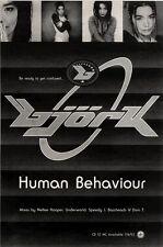 "5/6/93PGN29 BJORK : HUMAN BEHAVIOUR ADVERT 10X7"""
