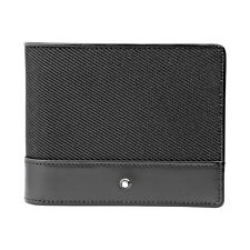 Montblanc Nightflight Bi-Folding Black Nylon Wallet 113147