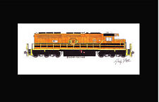"""Buffalo & Pittsburgh SD40-3 11""""x17"""" Matted Print Andy Fletcher signed"""