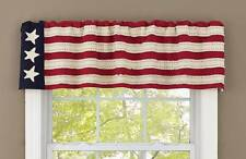 STAR SPANGLED AMERICAN FLAG VALANCE : AMERICANA PATRIOTIC BANNER COUNTRY WINDOW