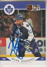 Autographed 90/91 Pro Set Mark Osbourne - Maple Leafs