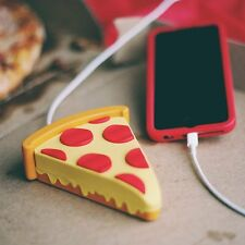 Pizza Emoji Cartoon Cute Portable Phone Charger Power Bank External Battery