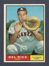 1961 Topps Baseball #448 Del Rice NM+ SHARP! Card Near Mint LA Angels SEMI HI#