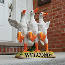 Chorus Line Ducks Welcome Garden Bird Sculpture Outdoor Statue