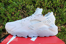 NIKE AIR HUARACHE RUN PRM SZ 12 NEUTRAL GREY WHITE 704830 005