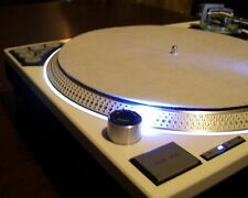 PAIR of BLUE Technics SL-1200 MK2 turntables w/recessed dicer & white LED's