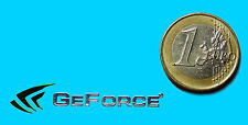 NVIDIA GEFORCE  METALISSED CHROME EFFECT STICKER LOGO AUFKLEBER 43x9mm [35]