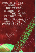 """MUSIC QUOTE POSTER """"A SOUL TO THE UNIVERSE"""" MOTIVATION PRINT PHOTO MOTIVATION"""