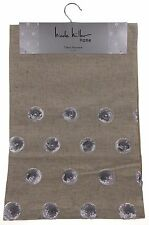 Kitchen Table Runner Nicole Miller Tan Silver Circles 14x72 Party Wedding Decor