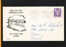 US WWII Patriotic Hitler Mussolini Graves Hagerstown IN 1944 z60