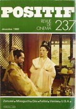 Positif n°237 - 1980 - Krzysztof Zanussi - Kenji Mizoguchi - Fellini - Mizoguchi