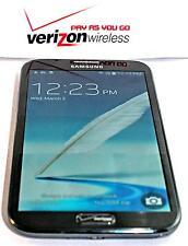 Unlocked Verizon Prepaid Samsung Galaxy Note 2 16GB 4G LTE No Contract, Good ESN