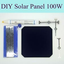 DIY Kit Solar Panel 100W With Flexible Sunpower Solar Cell Dog Bone Wire