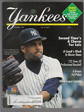 Luis Polonia 1994 New York Yankees Magazine with Rhil Rizzuto pullout poster