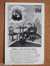 R&L Postcard: Living Picture 1905, Bachelor Gentleman, Antique Furniture/Wife