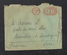 LUXEMBOURG (LUXEMBOURG) ENVELOPPE Affranchissement mécanique rouge en 1936