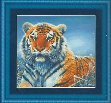 REPOSE TIGER IN SNOW ~Counted Cross Stitch Kit~ Animals Tigers Kit RARE