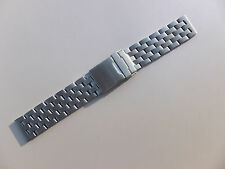 NEW 24mm SOLID 5 CROSS LINKS STAINLESS STEEL WATCH BAND,BRACELET FITS ALL