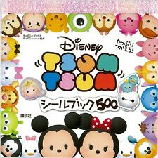 Disney TSUM TSUM Sticker Book 500 pcs NEW Japan