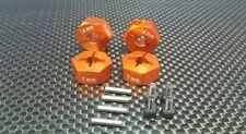 Axial EXO, SCX10, Wraith Upgrade Parts Aluminum Hex Adapter (14mmx7mm) - Orange