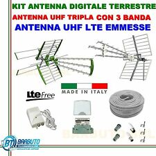 KIT ANTENNA COMPLETO LARGA BANDA DIGITALE TERRESTRE SWING 45EL.35dB+ ANTENNA UHF