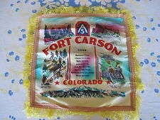 Fort Carson 5th Army Souvenir Pillow Case Scarf Sister Sweetheart Korean War Era