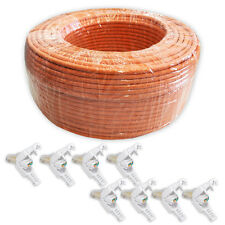 100 m CAT.7 Cable de desplazamiento Red COBRE 1000Mhz + 8x CAT 5/6/7 RJ45