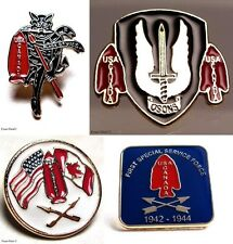 Canadian & American Fighters Airborne FSSF The 1st Special Service Force Pin Set