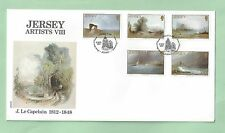 Jersey CI Channel Islands First Day Cover FDC 1987 Artists VIII J Le Capelain