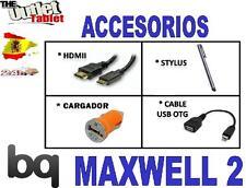 """PACK ACCESORIOS PARA TABLET BQ MAXWELL 2 7"""" + HDMI +USB +OTG +CARGADOR LITE PLUS"""