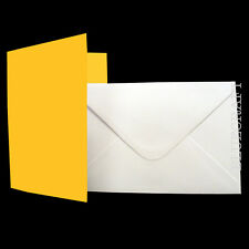 25 A6 Daffodil Yellow Card Blanks & White Envelopes - Easter & Mothers Day Cards