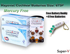 Cochlear Implant Batteries by Rayovac Mercury Free(120 cells)+Holder/4 Batteries