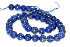 10MM AZURA LAPIS LAZULI GEMSTONE A BLUE ROUND 10MM LOOSE BEADS 15.5""