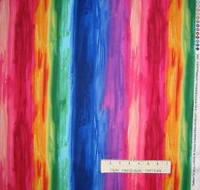Radiance Fabric - Jewel Tone Rainbow Stripe - Timeless Treasures YARD
