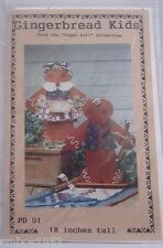 """Dianna Marcum Publications Gingerbread Kids 18"""" Tall Wood Pattern Pattern ONLY"""