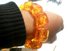 Rare Asian jewelry Amber Colored  Bracelet very beautiful