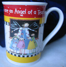 Teacher Gift Mug / 2008 You are an Angel of a Teacher Coffee Mug Cup / Brownlow