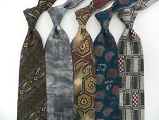 Lot of 5 Fabulous TIZIANA BOSSI 100% Silk Ties,  Made in Italy. WOW!!   Lot 271