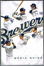2013 Milwaukee Brewers MLB Baseball Media GUIDE
