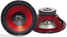 """Single 10"""" inch Red 4 ohm Performance Car Home Audio Stereo Woofer Bass Speaker"""