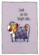"Greeting Card - Get Well - ""LOOK ON THE BRIGHT SIDE..."" - by Inspired by Faith!"