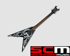RRP $650 BC RICH METAL MASTER V2 ONYX TRIBAL F GRAPHIC ELECTRIC GUITAR