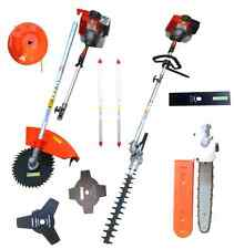 52CC 7 IN 1 PETROL STRIMMER GARDEN GRASS BRUSH CUTTER/HEDGE TRIMMER+FREE TOOLKIT