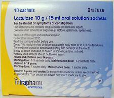 Lactulosa oral bolsitas,paquete con 10,tratamientos resfriado,adultos & niños