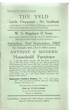 Il YELD, poco Haywood, Stafford. catalogo di vendita di mobili antichi