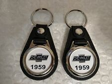 1959 CHEVROLET KEYCHAIN 2 PACK CLASSIC FOB LOGO FOR CHEVY TRUCKS AND CARS