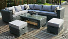 Conservatory MODULAR 9 Seater Rattan Corner Sofa Set Garden Furniture grey 50020