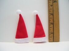 DOLLHOUSE  FASHION DOLL MINIATURE CHRISTMAS SANTA HAT ACCESSORY LOT OF 2