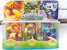 New 3 Skylanders Swap Force Figure Lava Barf Eruptor Slobber Tooth Super Gulp +