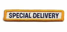 MAIL CARRIER VINTAGE Embroidered UNIFORM PATCH Post Office Dept Special Delivery